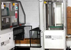 Box machine with stacker